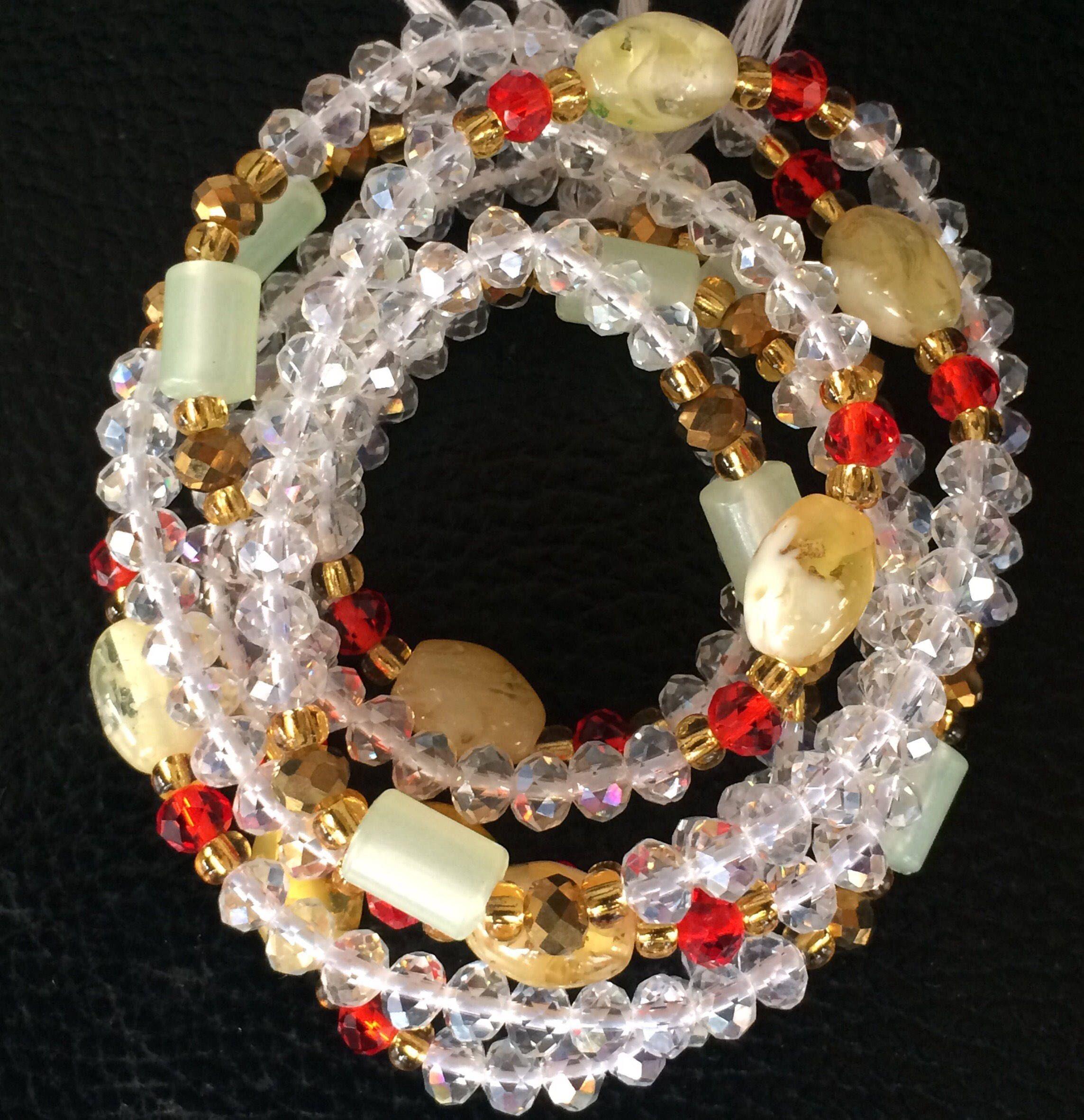 Agate beads. Plastic Beads. Crystal beads. #waistbeads ...