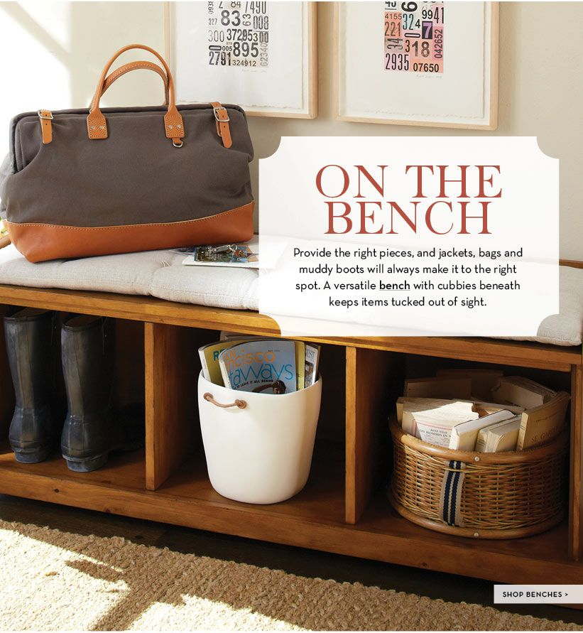 How to create an entryway in a small space pottery barn for Pottery barn foyer ideas