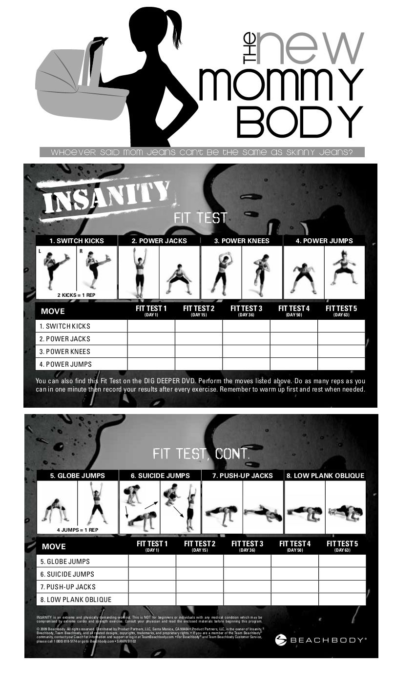 Worksheets Beachbody Worksheets new mommy body beachbody shaun t insanity fit test worksheet worksheet
