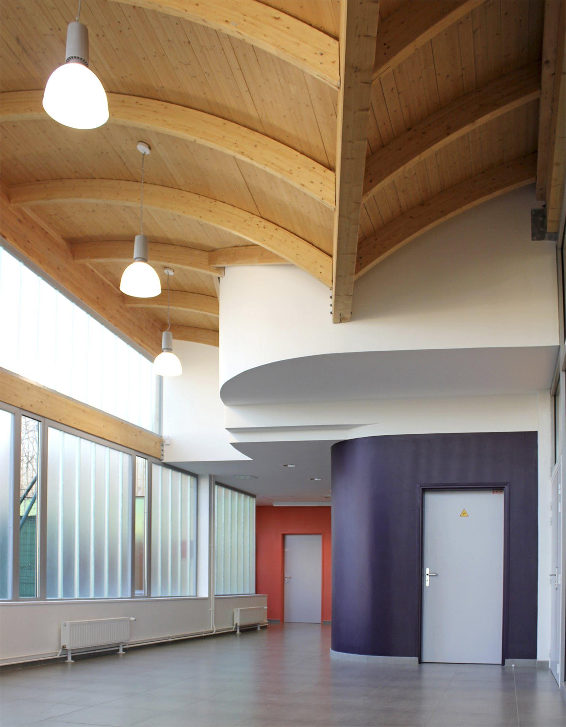 Atelier D Architecture Alexandre Dreyssé gymnasium regis racine situated in drancy north east paris