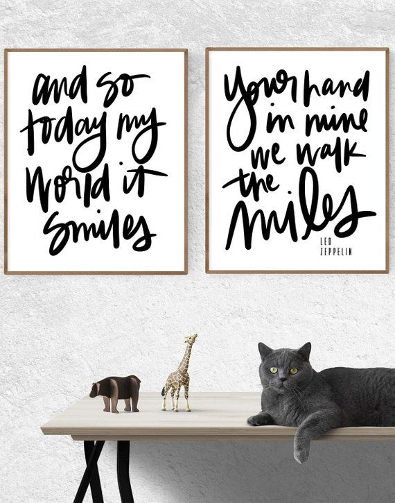 And So Today My World It Smiles Your Hand In Mine We Walk The Miles Led Zeppelin Wall Art