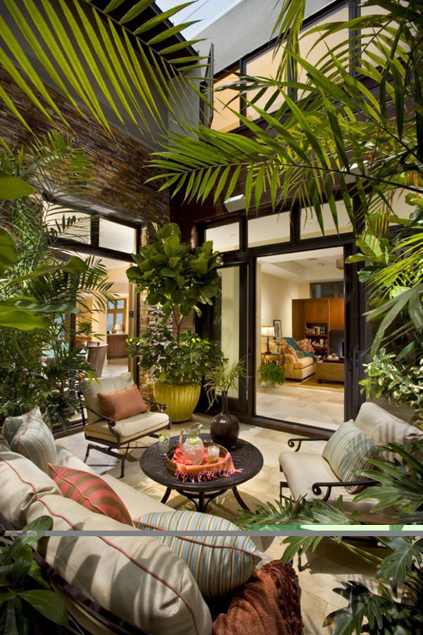 25 Tropical Outdoor Design Ideas | Plants, Outdoor living and Patios