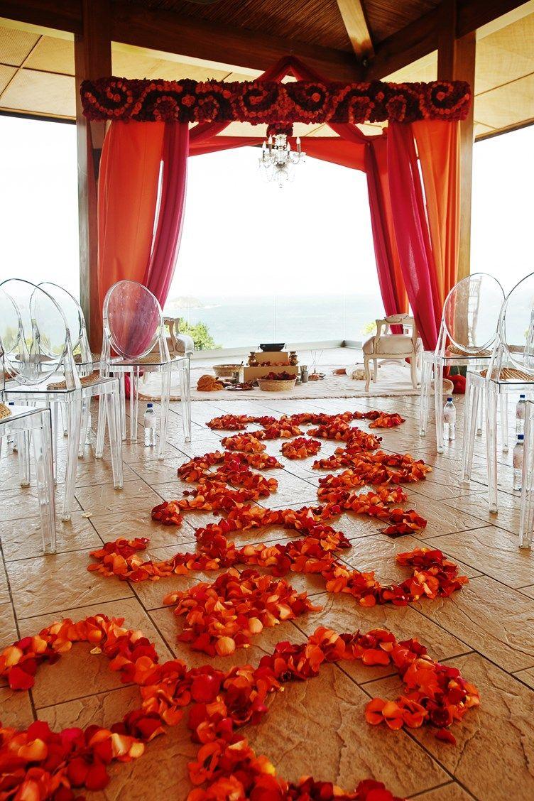 A Modern Chic Indian Wedding Costa Rica Wedding Decor Design