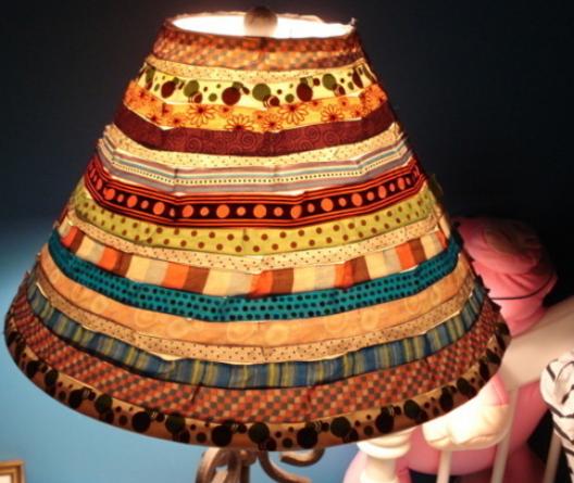 Diy lamp shade with dot ribbon diy crafts pinterest diy lamp shade with dot ribbon aloadofball Choice Image