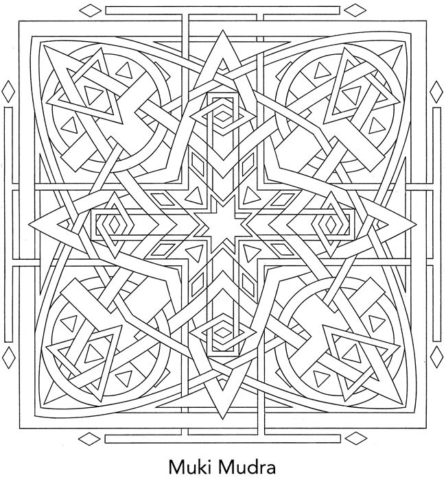 Sacred Yantra Coloring Book ~ I get to color this, too