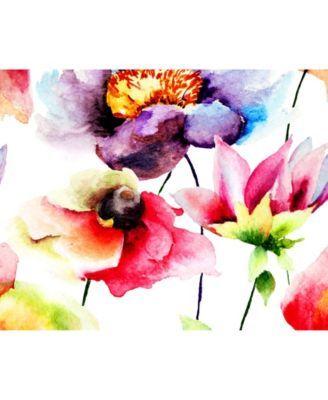 Mural Watercolour Flora Wall Wall Murals Wall Wallpaper Flower