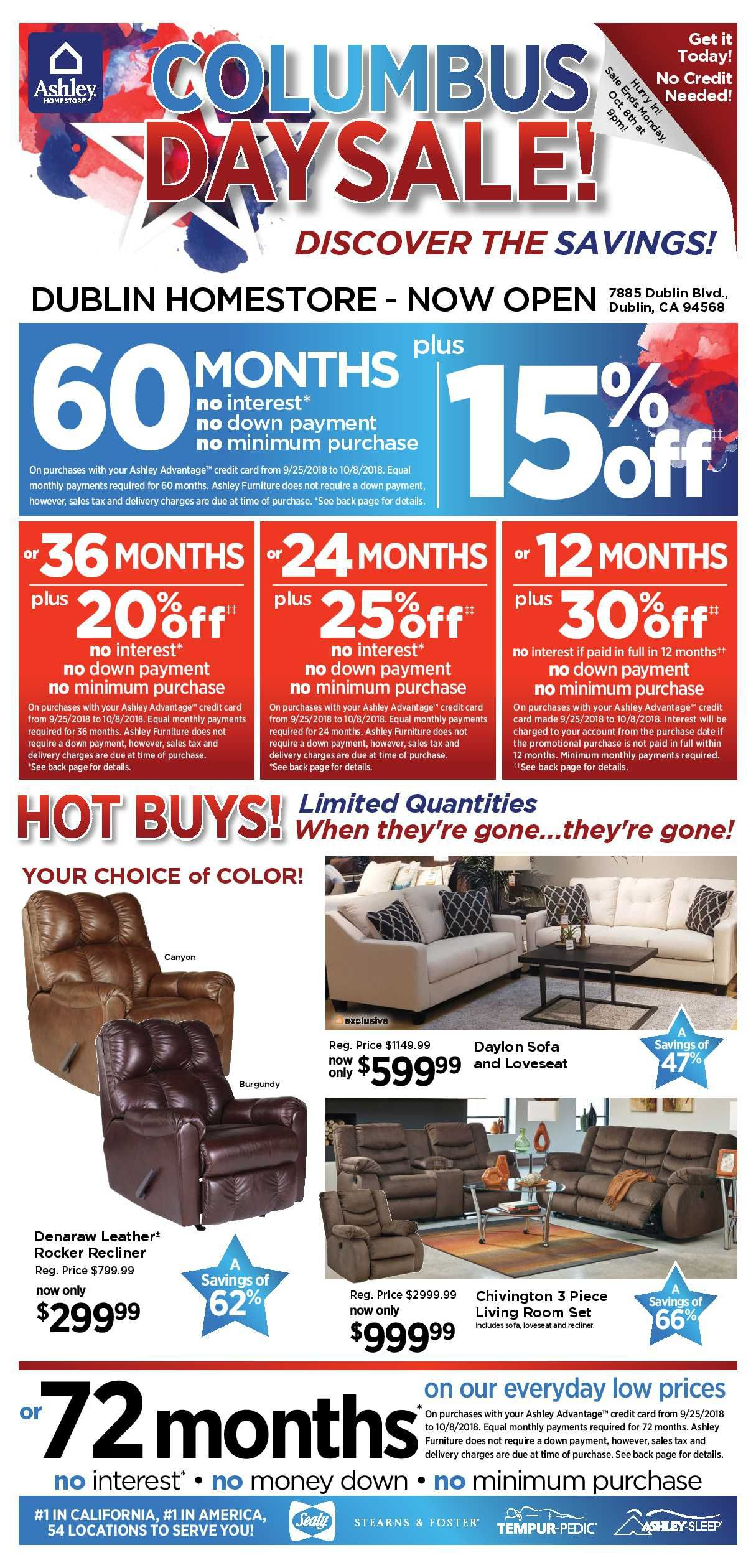 Ashley Furniture Weekly Deals Flyer January 15 21 2019 Weekly