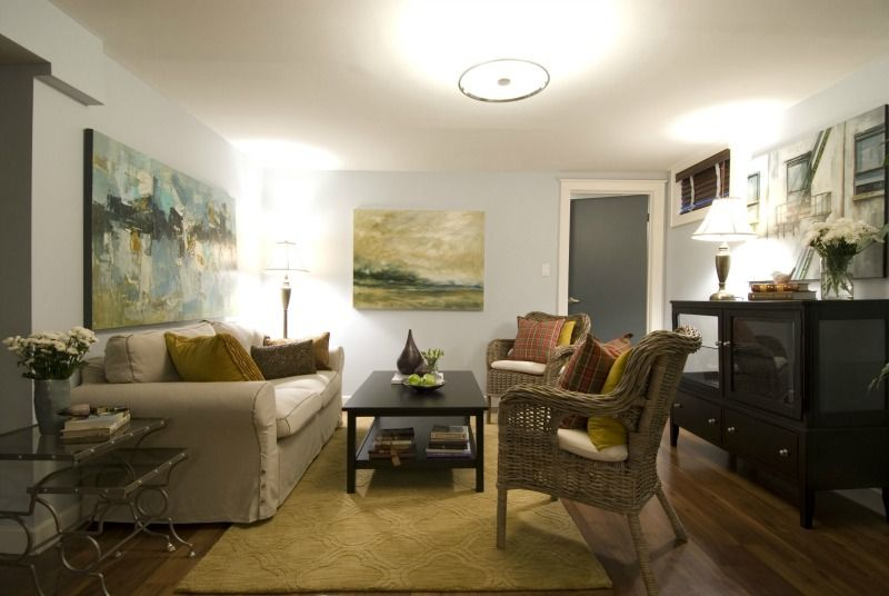 Staged Living Room With Furniture Art And Accessories Hgtvs - Living-room-art-property