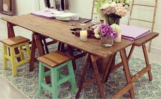 Wooden Trestle Table This Long Rustic Trestle Table Is A Genuine