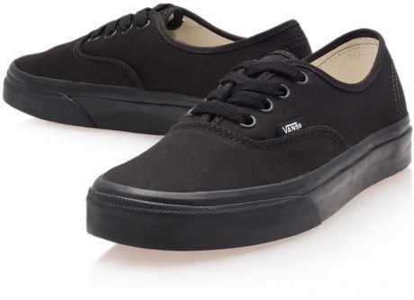 Black Authentic Trainers - Vans