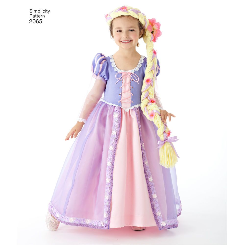 Disney 39 S Tangled Child 39 S Rapunzel Costume Simplicity Sewing Pattern Princess Costume Kids Rapunzel Costume Kids Dress
