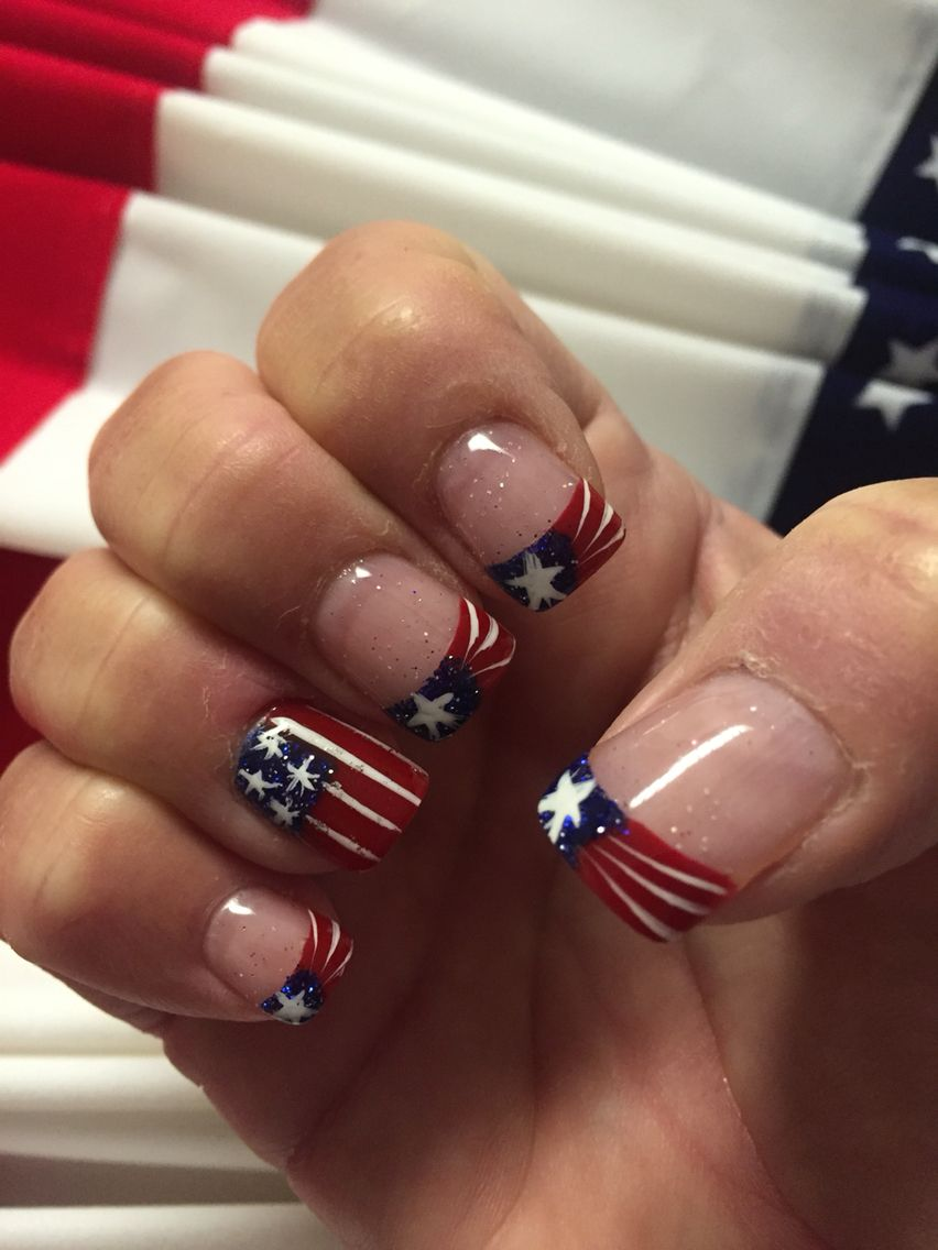 4th of July nails by K Nails in Elkin NC | Nails | Pinterest