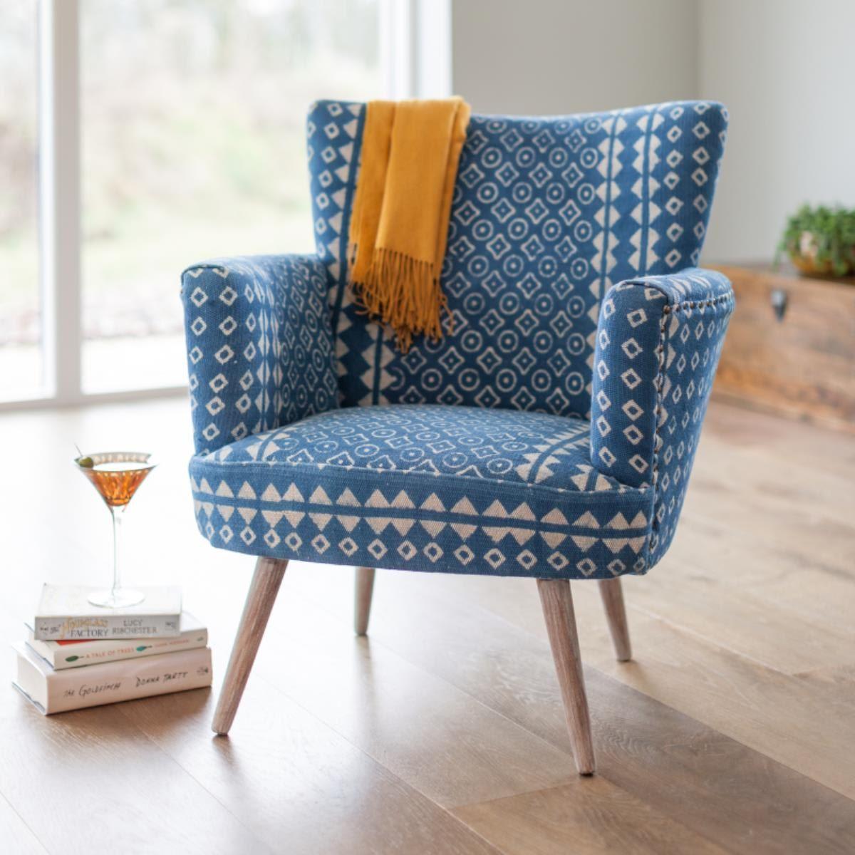 Audrey batik armchair upholstered furniture patterned