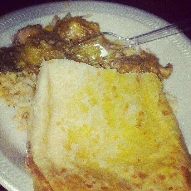 Roti, Curry Chicken, Rice Instagram photo by @rinnis85 via ink361.com #Guyana