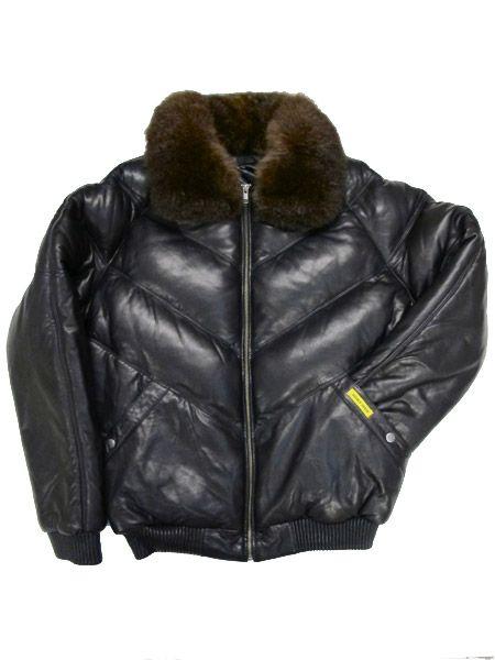 DOUBLE GOOSE V Bomber Leather Down Jacket | My likes | Pinterest ...