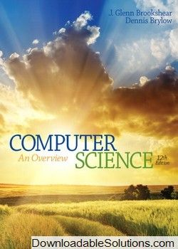 solution manual for computer science an overview 12th edition by