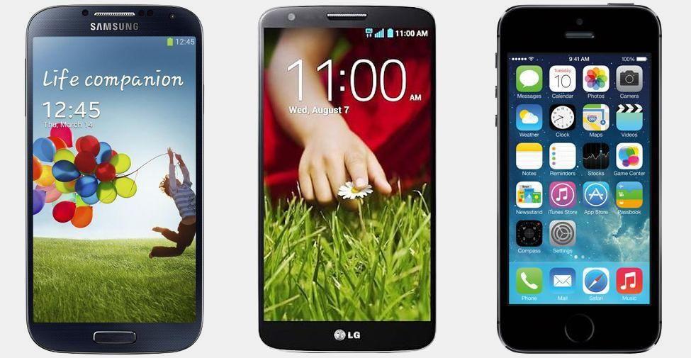 Samsung Galaxy S4 vs LG G2 vs iPhone 5S | Versus OS