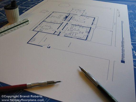 Family Guy House Floor Plan - Blueprint Poster Art for Lois \ Peter - fresh blueprint diazo paper