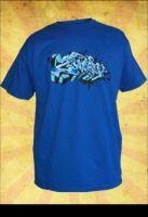 "Blue T-shirt from the Danish Graffiti Brand ""2Wear"" - Limited Edition.   250 DKK."