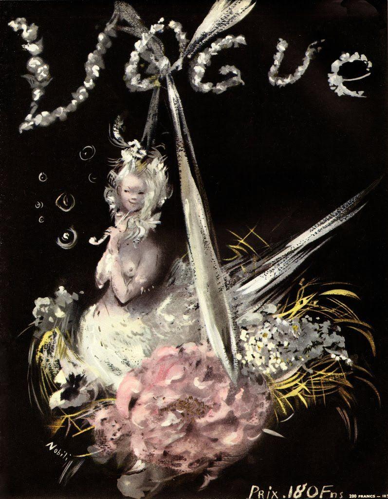 Lila De Nobili | Lila de Nobili, French Vogue cover from Graphis 19, 1947