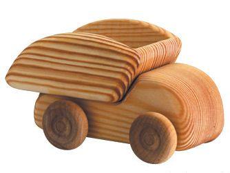 Debresk Wooden Dump Truck - Small Wooden Dump Truck - Blueberry Forest Toys