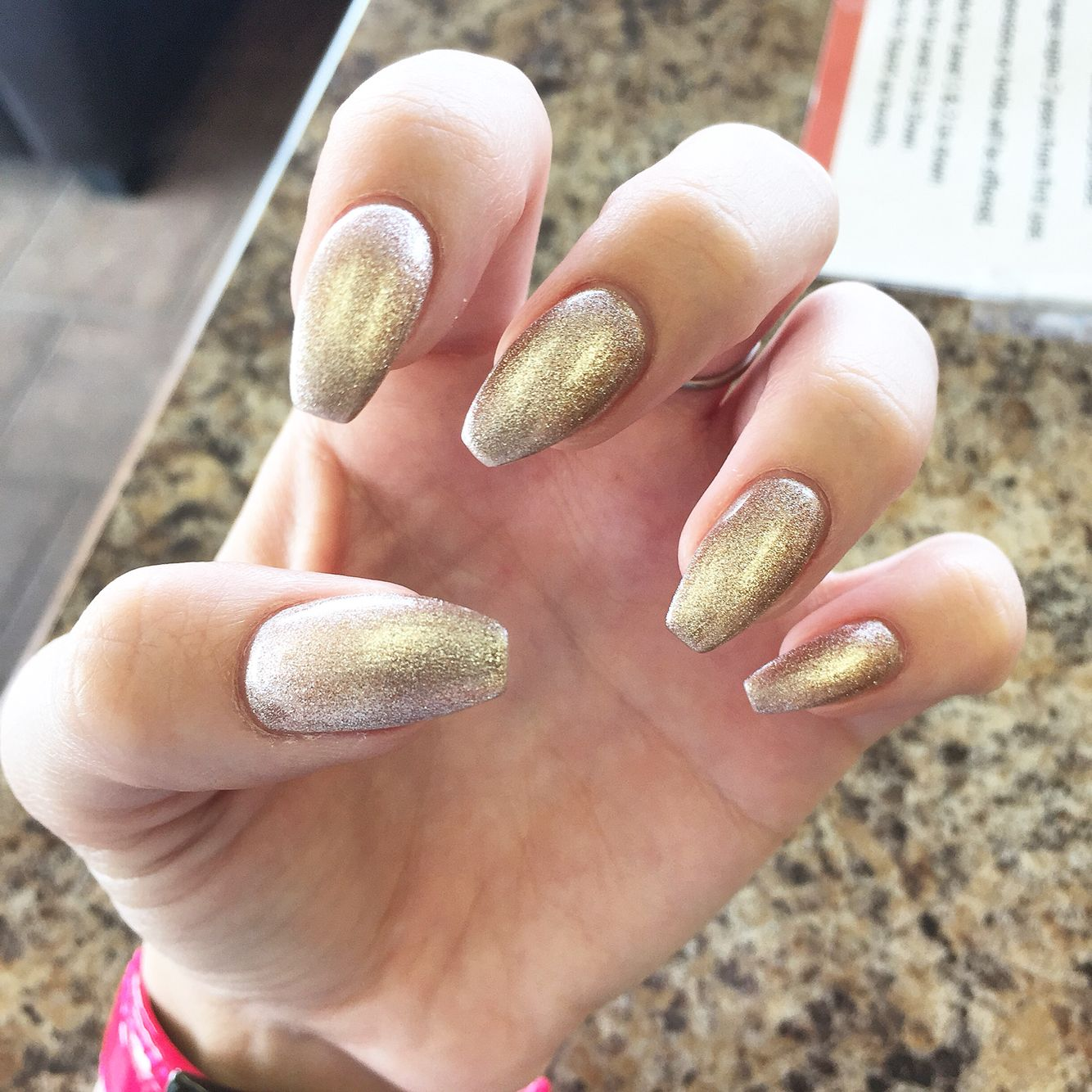 LCN gel manicure over natural nails. Coffin shaped nails. Orly gel ...