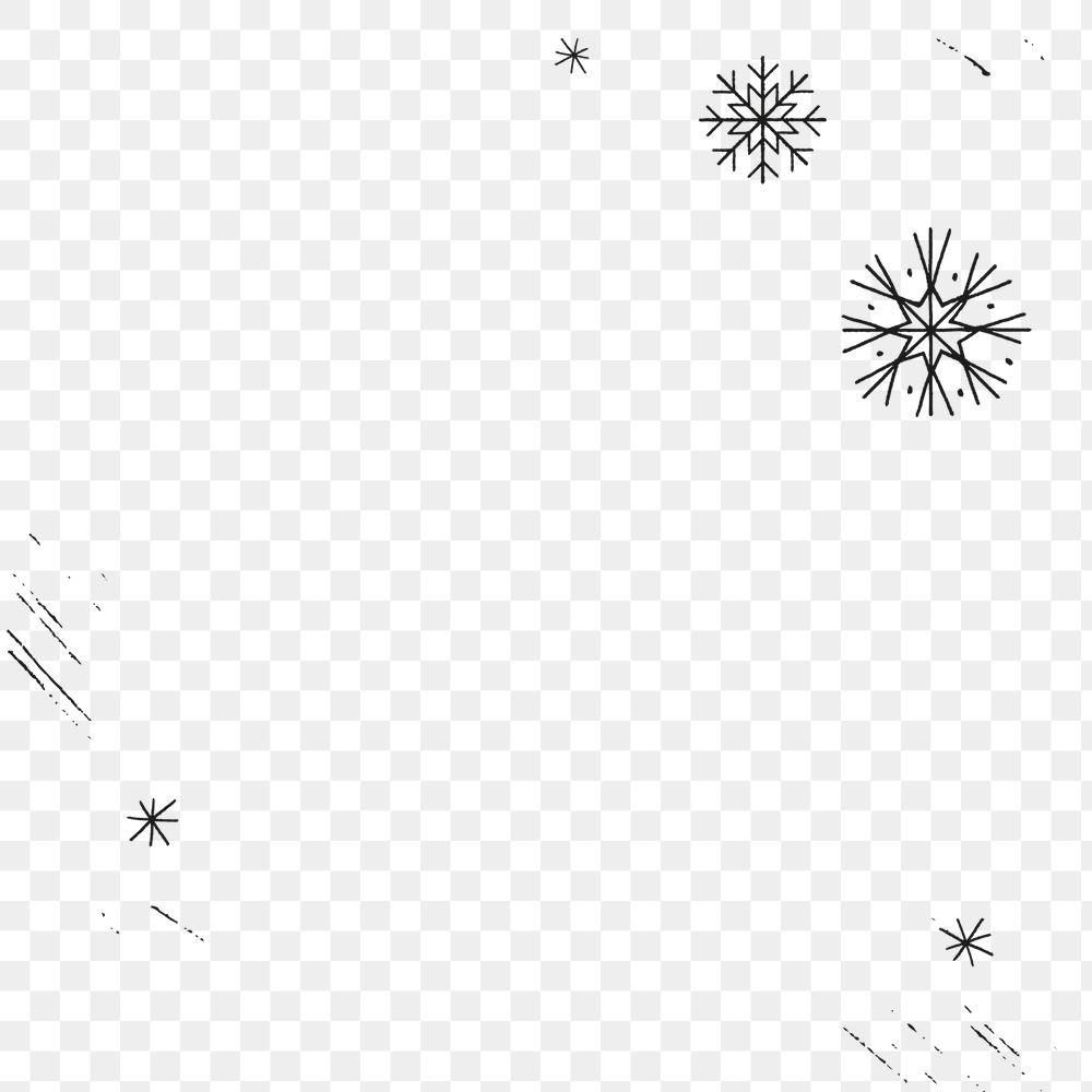 Snowflake Pattern Frame Png Festive Background Premium Image By Rawpixel Com Nunny Snowflake Pattern Christmas Frames Christmas Card Design