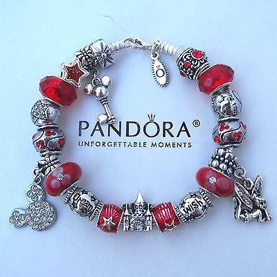 9c2570053e94 Authentic Pandora Bracelet with Mickey Tinker Wish Dream Princess ...