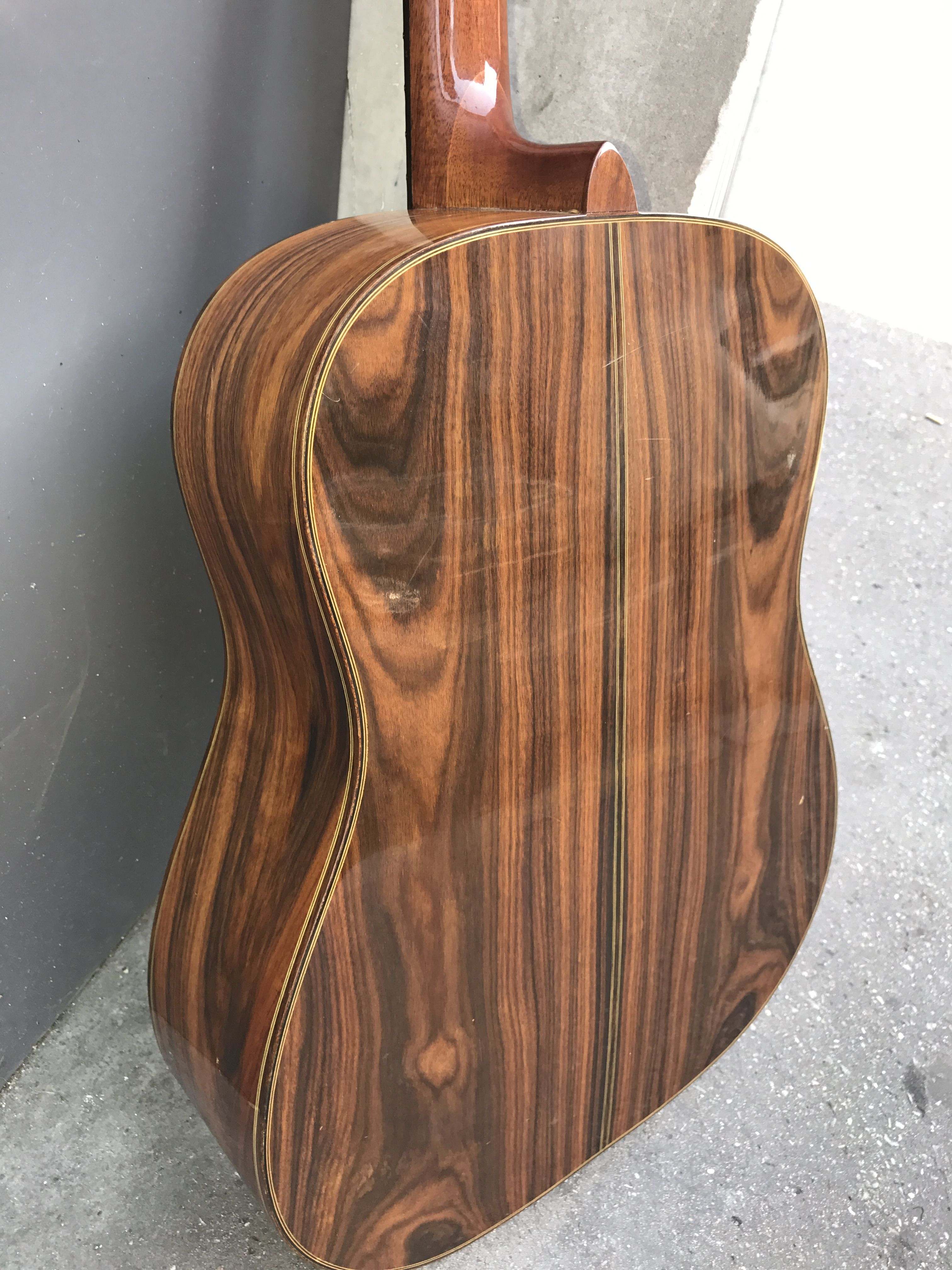 The Beautiful Brazilian Rosewood Back And Sides Of This Giannini Dreadnought Acoustic Available Now Call Simon 07788 708002