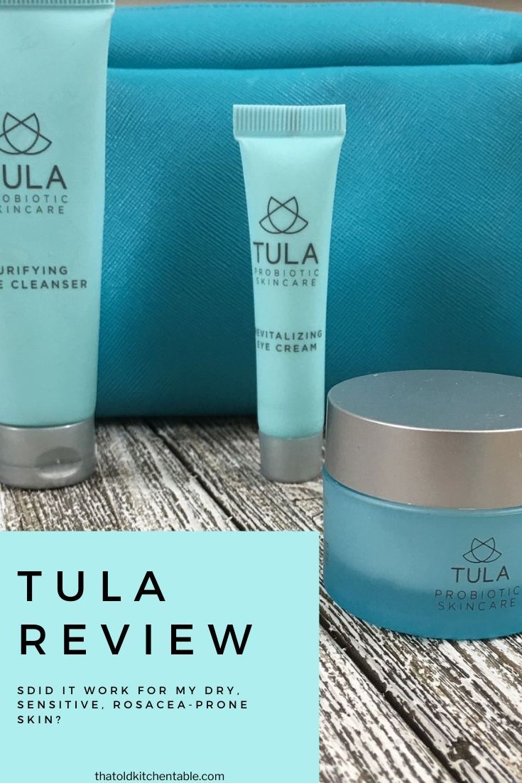 TULA Review Skincare Routine for Sensitive Skin and