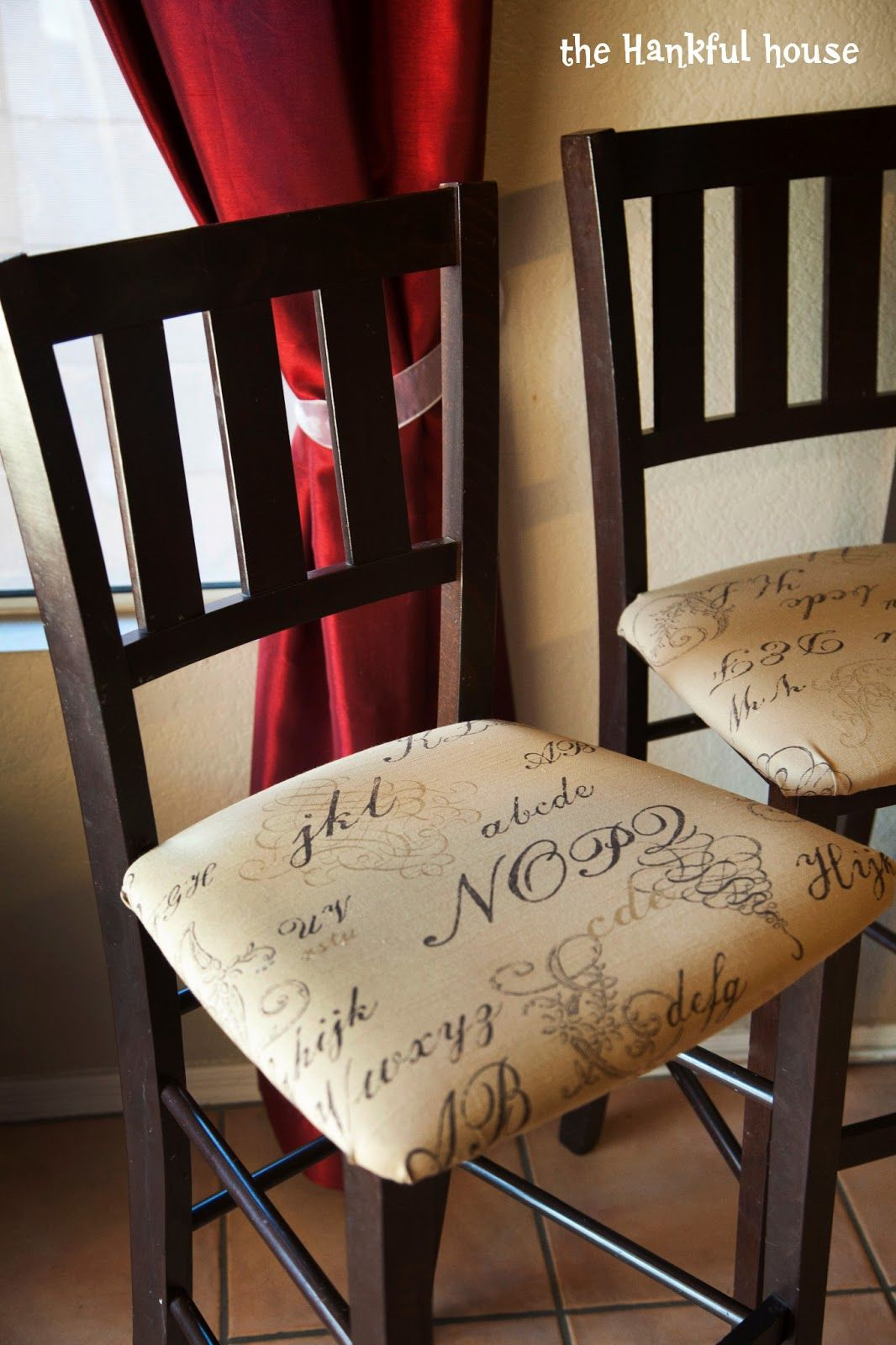 Linen Barstool Slipcover and Cushion Ruffled Skirt Bar Stool Cover ...