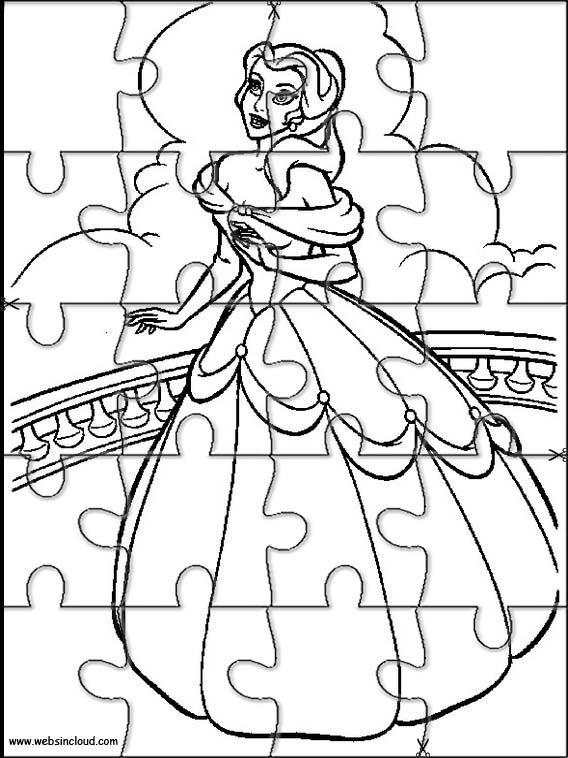 Disney Coloring Pages Puzzle