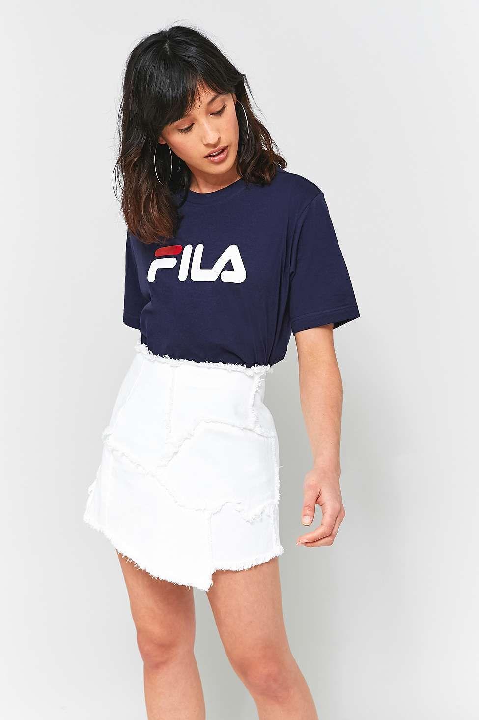 5bc19ddd50f FILA - T-shirt Eagle bleu marine