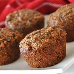Bread, Bran Flax Muffins, These Spicy Muffins Are Loaded With Fiber And Flavor. Oat Bran And Flax Seeds Along With Carrots, Raisins, Apples And Nuts Make A Healthy Difference Here.