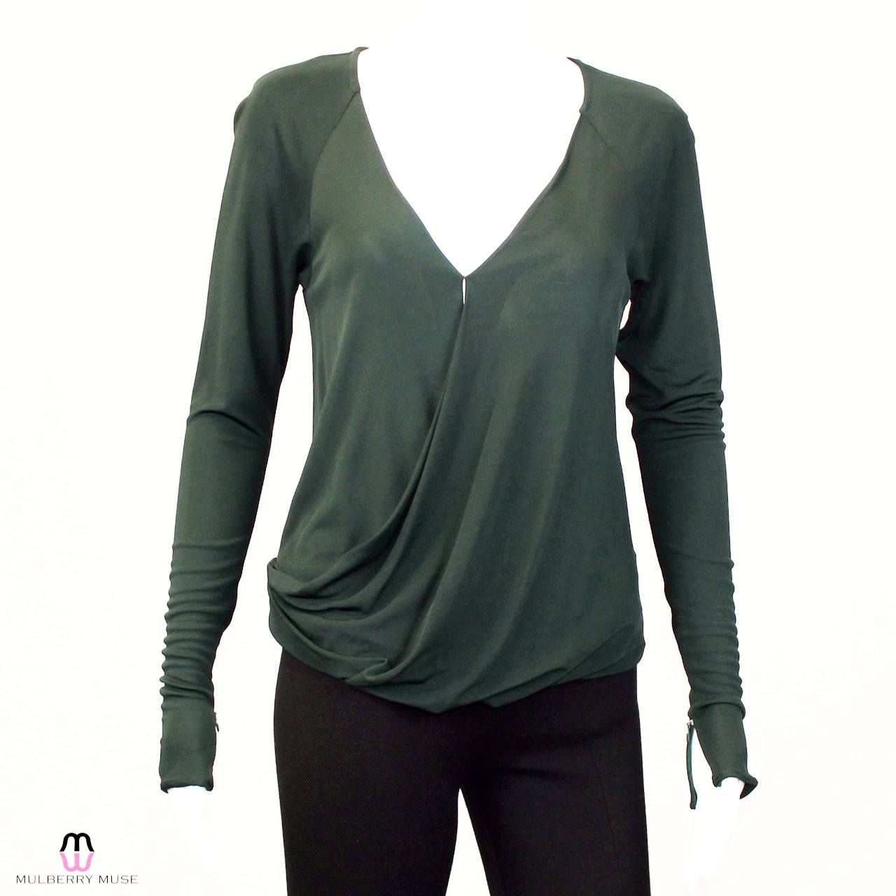 Molly Long Sleeve Drape Front Top