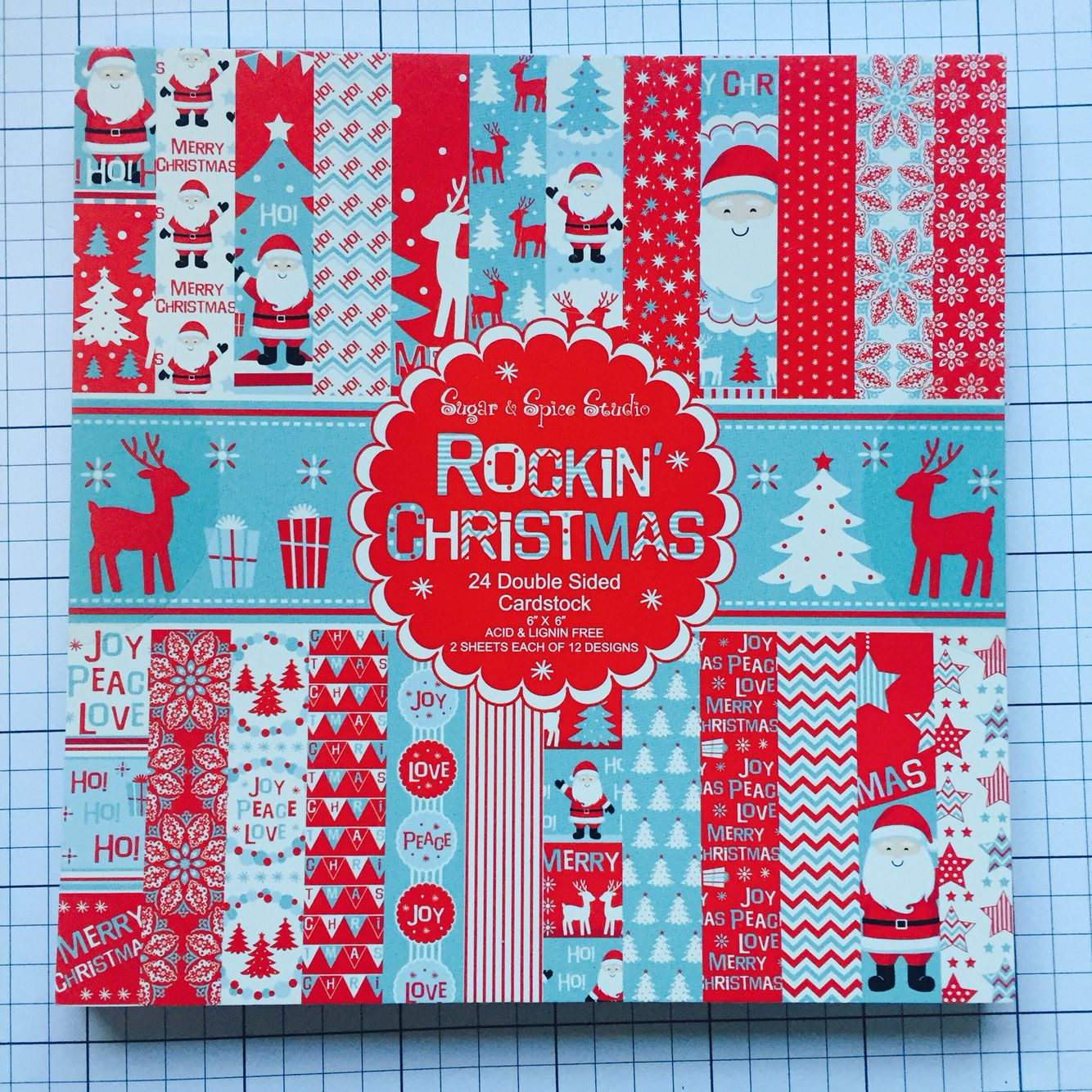 Sugar Spice Rockin Christmas 6x6 Double Sided Cardstock Paper