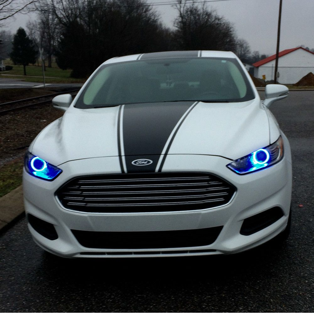 Partially vinyl wrapped 2014 fusion glass headlights fog lamps lenses window tint ford fusion forum ford fusion pinterest ford fusion ford