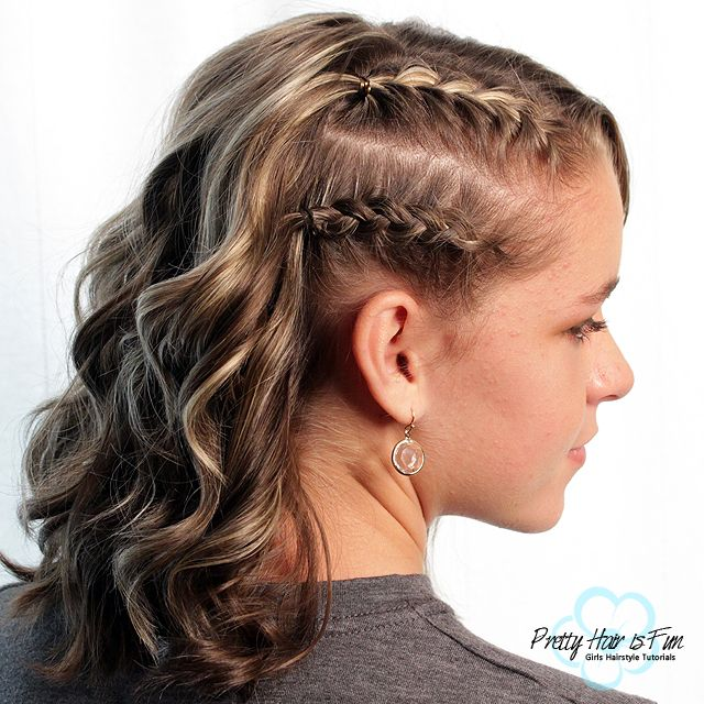 Short Hairstyles Racer Stripes Side Braids Braided Hairstyles Braids For Short Hair Short Hair Updo