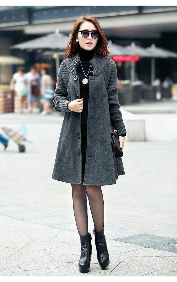 Loose fit, Casual fashion winter women coat, long sleeve coat jacket for women
