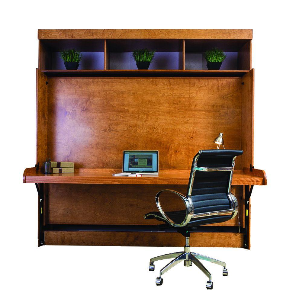 Standard desk wallbed in murphy bed systems pinterest