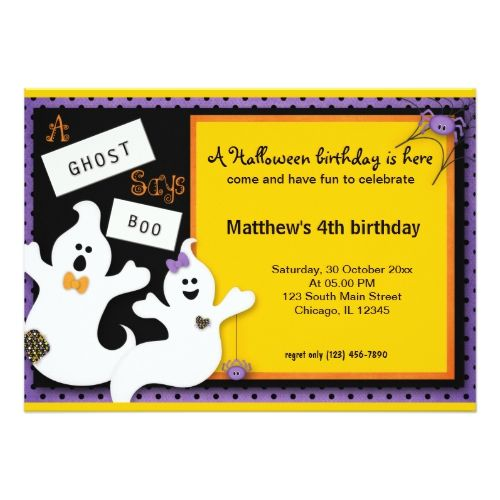 Halloween Birthday Card Halloween Birthday Halloween Ideas And