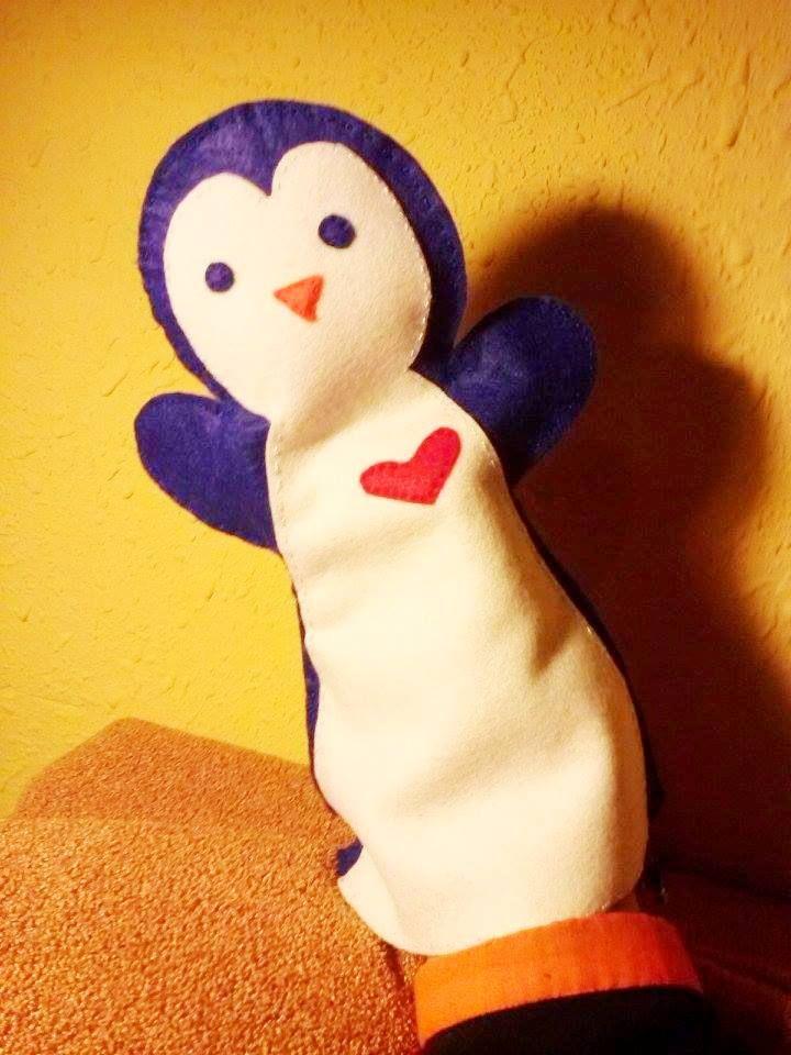 Titella de pingüí/ penguin puppet