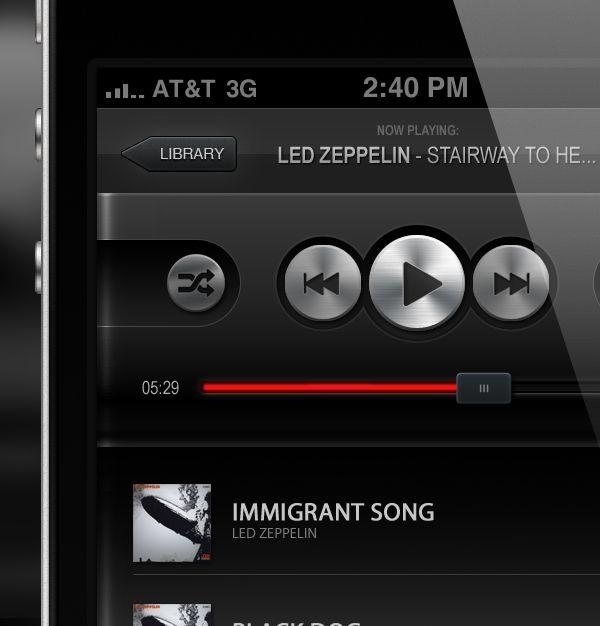 Music Player App by Petr Knoll, via Behance