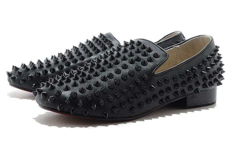 Nike Roshe Courir En Daim Hommes Louboutin Noir Et Blanc Mocassin