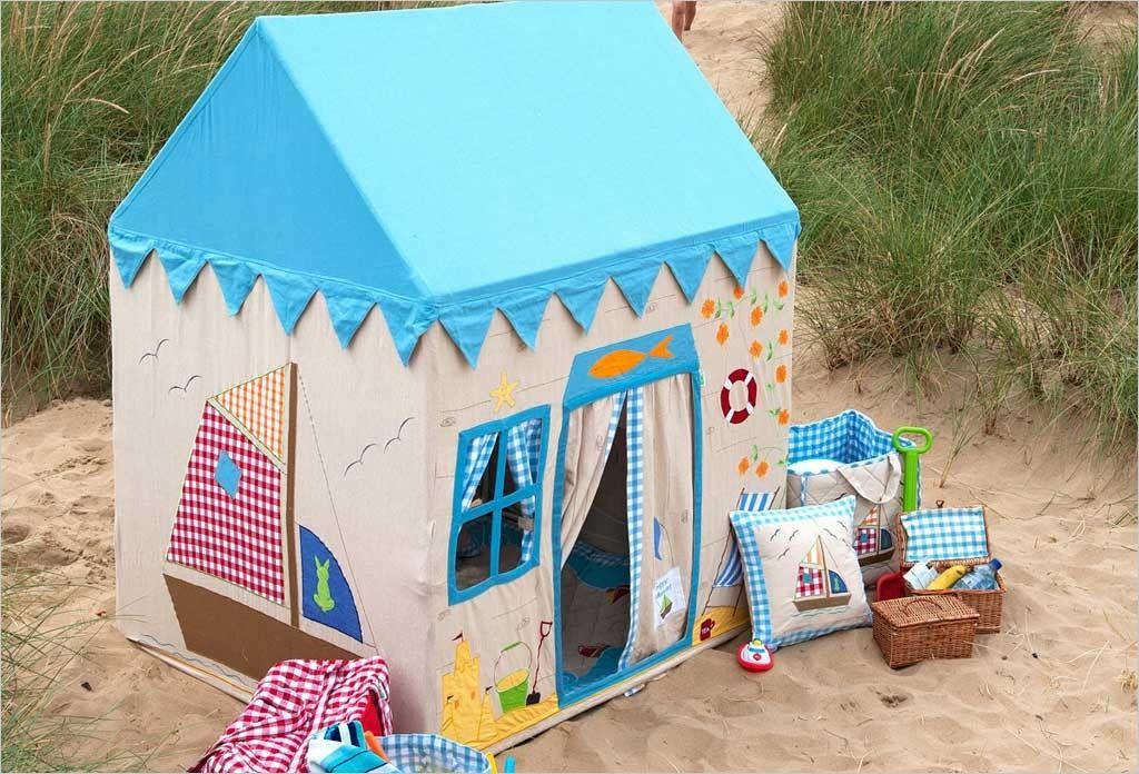 grande maison de plage en tissu cabanes enfants et maisonnettes en tissu pinterest cabane. Black Bedroom Furniture Sets. Home Design Ideas