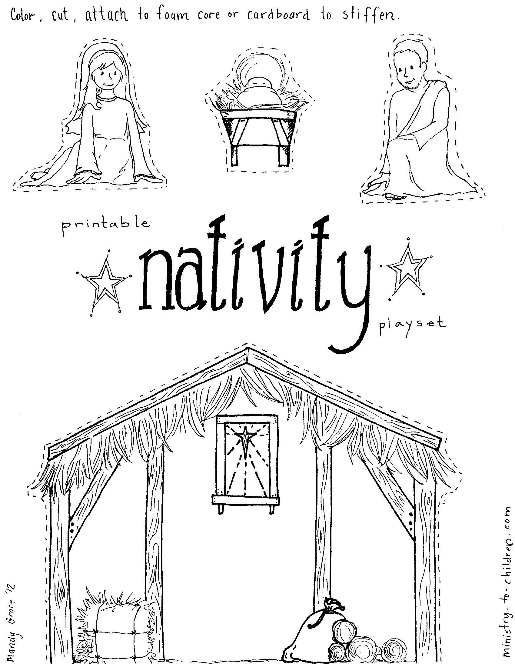 DIY Nativity Church Sunday School Ideas Pinterest