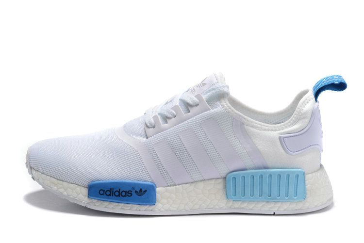 new product c5ab1 b2c64 2018 Official Adidas NMD Runner PK S75235 White Blue Lagoon Roal Shoe