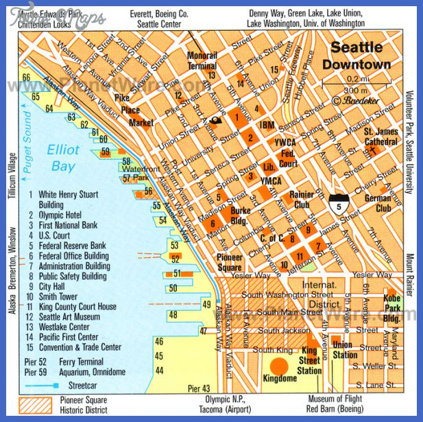 awesome Seattle Map Tourist Attractions | Tours Maps in 2019 ...