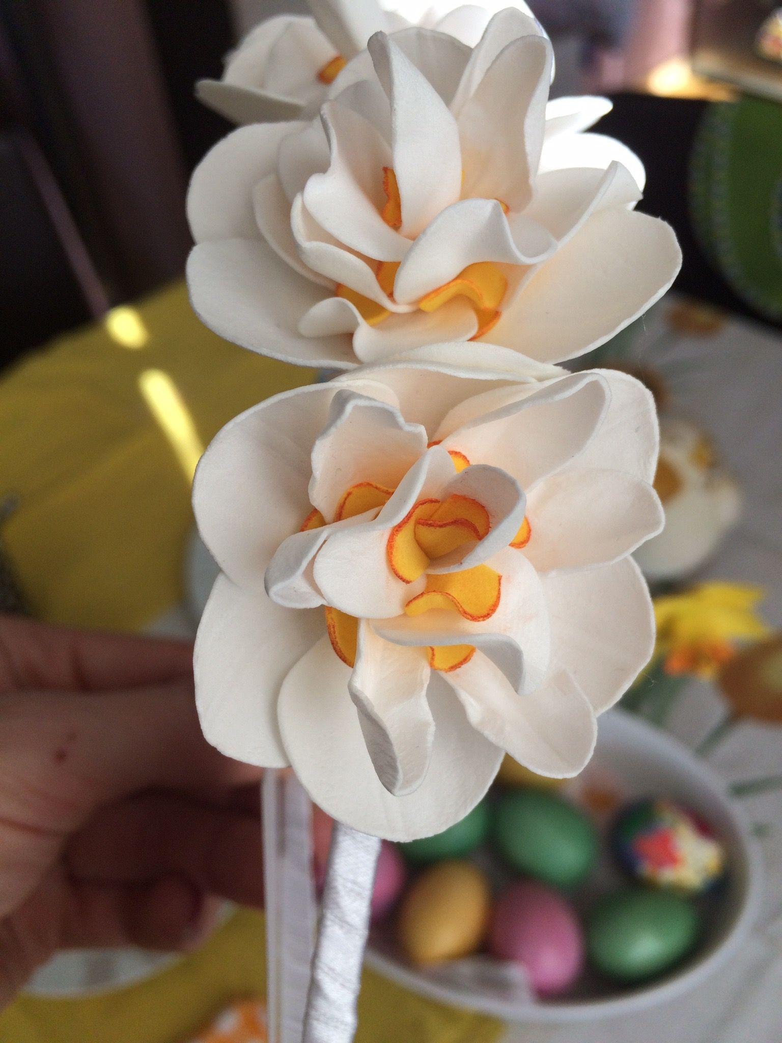 My flowers, handmade, foam, eva, bride, hair, made with love