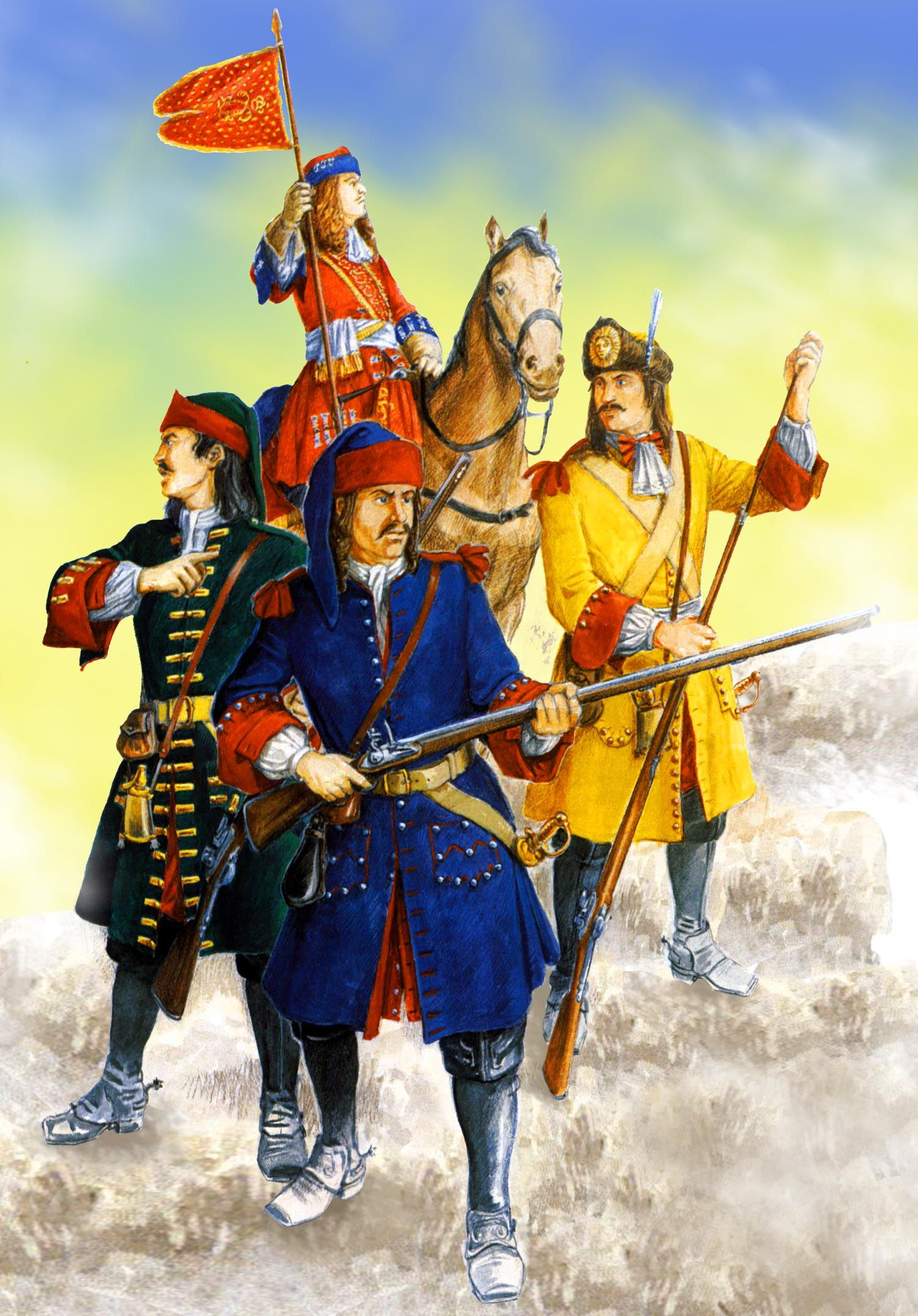 The Royal French King's Dragoon regiment of King Louis XIV ...